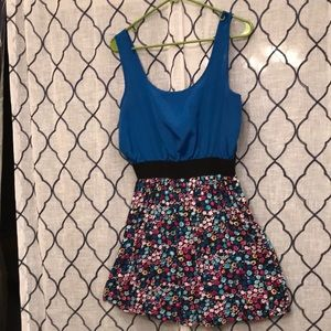 Forever 21 blue dress with floral print